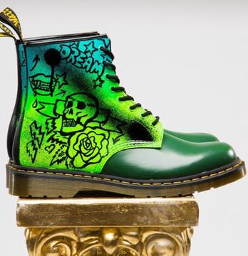 "Custom Dr. Marten ""Rebels"" Boot"