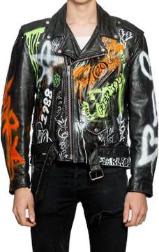 Graffiti Rebel Leather Jacket