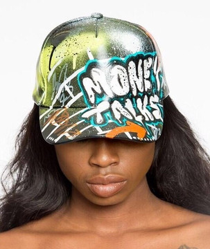 Money Talks Leather Cap (Womens)