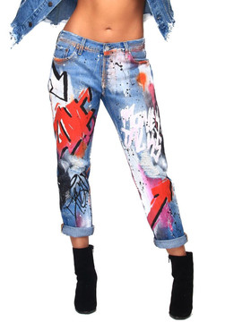 """LOVE"" GRAFFITI DENIMS"