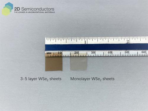 Few- vs mono-layer thick WSe2 sheets.
