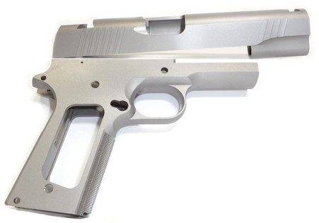 """1911 80% Builder's Kit 5"""" .45 ACP Forged 4140 Steel Frame with Checkered Grip and 416 Novak Cut Slide"""