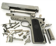 "1911 80% Build Kit 5"" .45 ACP Ramped Barrel Series 80 Forged 416 R Railed Frame with Smooth Grip and Novak Cut Slide"