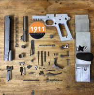 "1911 80% Complete Build Kit 5"" .45 ACP Billet 7075 Aluminum Frame with Rail"