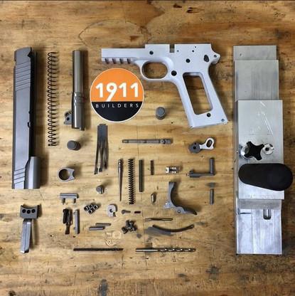 "1911 80% Complete Build Kit 5"" .45 ACP Billet 7075 Aluminum Frame with Rail"
