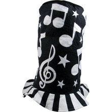 Felt Hat Music Notes Black & White