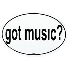 Sticker Oval Got Music