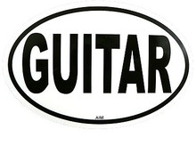Sticker Guitar Oval