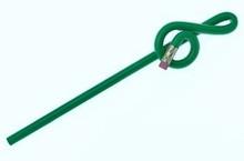 Bent Pencil G-clef Green