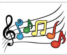 Cards - Plain Music Staff 4.25x5.58 8/Box