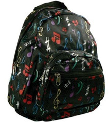 Satin Back Pack Music Notes