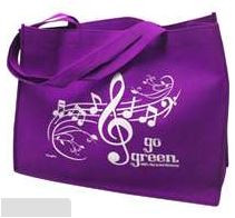 Reusable Tote Music Staff Go Green Assorted