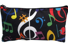 Zipper Pouch Music Notes