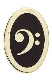 Mini Pin Bass Clef (Oval)