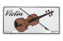 License Plate Violin