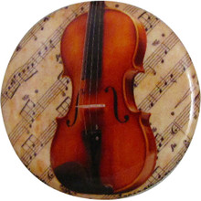 Button Violin w/Sheet music