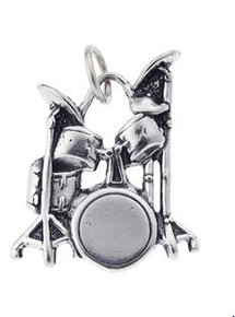 Charm/Pendant Sterling Silver Drum Set