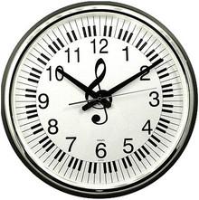 "Wall Clock Keyboard G-Clef 18""Round"