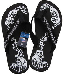 Flip Flop Music Notes Black