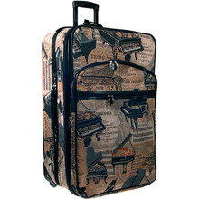 "Suitcase Carry-on Piano Tapestry 20"" Expandable"