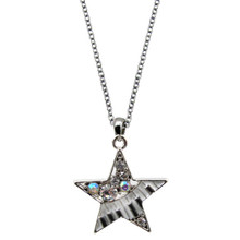 Necklace - Music Keyboard Star w/Crystals