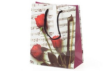 "Sheet Music Gift Bag - Small 4.5"" x 2.5"" x 5.75"""