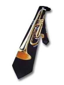 Trumpet Tie - Navy