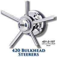 420 Bulkhead Steerer - 15 Tooth Sprocket - Tapered Shaft (Less Brake)