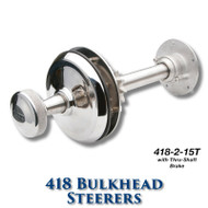 418 Bulkhead Steerer - 15 Tooth Sprocket - Tapered Shaft (With Brake)