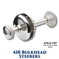 418 Bulkhead Steerer - 15 Tooth Sprocket - Tapered Shaft (Less Brake)