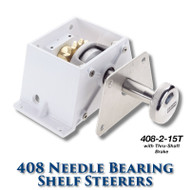 408 Needle Bearing Shelf Steerer - 15 Tooth Sprocket - Tapered Shaft (With Brake)