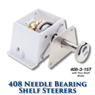 408 Needle Bearing Shelf Steerer - 15 Tooth Sprocket 3/4-inch (#60) Chain - Tapered Shaft (With Brake)