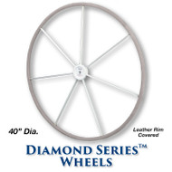 40-inch Diamond Series Wheel - Leather Covered Rim