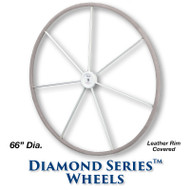66-inch Diamond Series Wheel - Leather Covered Rim