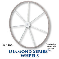 48-inch Diamond Series Wheel - ComfortGrip Leather Covered Rim