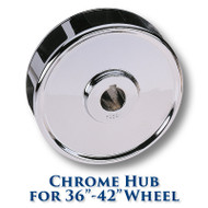 Chrome Hub for 36-inch to 42-inch Dia. Wheels