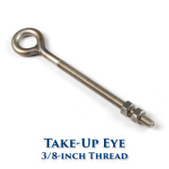 Stainless Take-Up Eye - 3/8-inch Bolt
