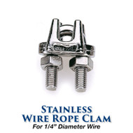 Stainless Wire Rope Clamp - 1/4-inch Wire Size
