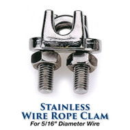 Stainless Wire Rope Clamp - 5/16-inch Wire Size