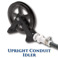 "Upright Conduit Idler with Needle Bearings - 8"" Sheave"