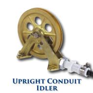 "Upright Conduit Idler with Needle Bearings - 8"" Sheave (Bronze)"