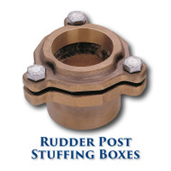 "Bronze Rudder Post Stuffing Box - 1.125"" ID"