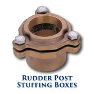 "Bronze Rudder Post Stuffing Box - 1.125"" ID"