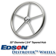 22-inch Stainless Steel Destroyer Wheel - 3/4-inch Tapered Hub
