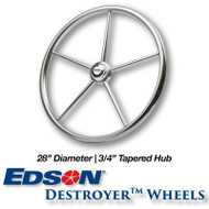 28-inch Stainless Steel Destroyer Wheel - 3/4-inch Tapered Hub