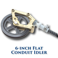 "Flat Conduit Idler with Needle Bearings - 6"" Sheave"