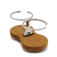 Double Drink Holder - Teak Base