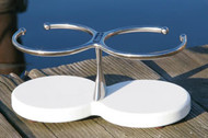 Double Drink Holder - White Poly Base