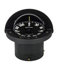 "Ritchie Navigator Compass Flush Mount - Black - 4-1/2"" Dial"
