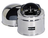 "Ritchie GlobeMaster Compass Pedestal Mount with Hood - Stainless - 5"" Dial"